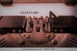 gratitude typewriter